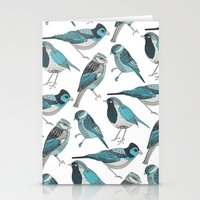 yetiland Stationery Cards featuring pale green birds by Polkip