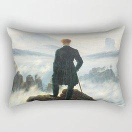 Caspar David Friedrich Wanderer above the Sea of Fog Rectangular Pillow