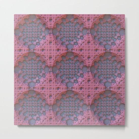 Recessed Lace Metal Print