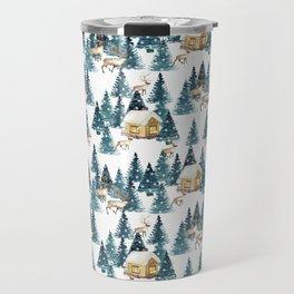 Winter village Travel Mug