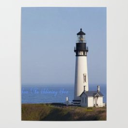 Lighthouse Newport Oregon Poster