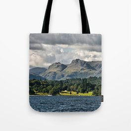 The Langdale Hills from Windermere, Lake District Tote Bag