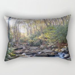 Boone Fork Creek in Autumn Rectangular Pillow