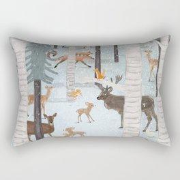little deer wood Rectangular Pillow