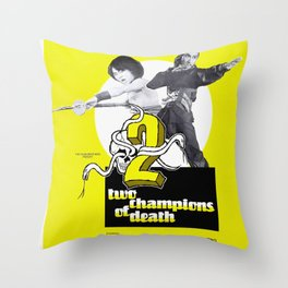 Vintage Film Poster- Two Champions of Death (1980) Throw Pillow
