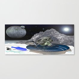 Picnic in space Canvas Print