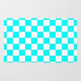 Checker (Aqua Cyan/White) Rug