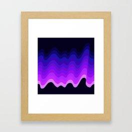 Ultraviolet Retro Ripple Framed Art Print