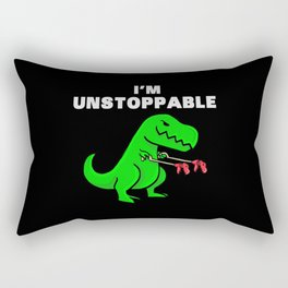 I am unstoppable   Dinosaur Tyrannosaurus Rex Rectangular Pillow