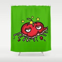 Smashed Tomato Shower Curtain