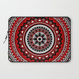Red and Black Mandala Laptop Sleeve
