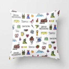 Garmisch Partenkirchen Throw Pillow