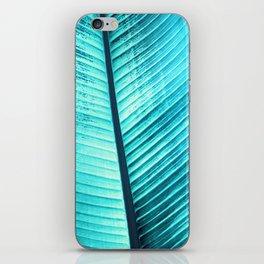Maurelli Turquoise Banana Tree Leaf iPhone Skin