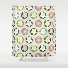 Kawaii Donuts Shower Curtain