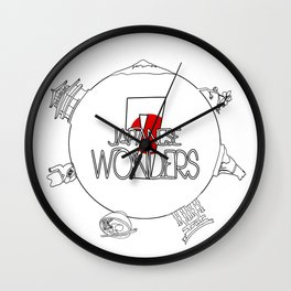 7 Wonders of Japan Wall Clock