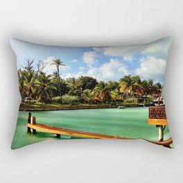 Antigua & Barbuda - Tropical Rain Shower in Jolly Harbor Rectangular Pillow