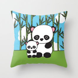 Panda Sweetness Throw Pillow