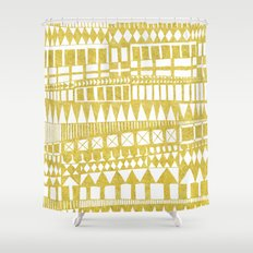 Golden Doodle abstract Shower Curtain