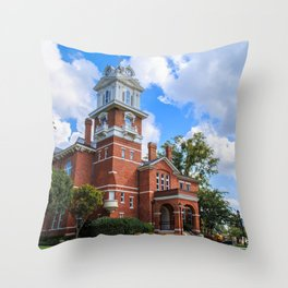 Historic Gwinnett County Courthouse Throw Pillow