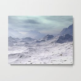 Snow Covered Mountains Metal Print