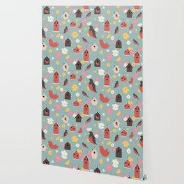 Bird Houses Wallpaper
