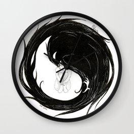 Yin Yang Crow Wall Clock