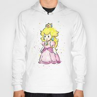 princess peach Hoodies featuring Princess Peach by Olechka