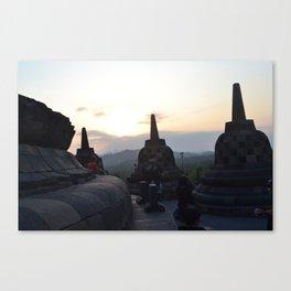 Scenery in Candi Borobudur Canvas Print