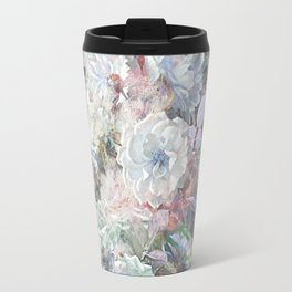 Delicate vintage subtle pastel floral abstract Travel Mug