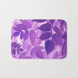 Ultra Violet Purple Leaves Bath Mat
