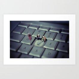 keyboard repairs Art Print
