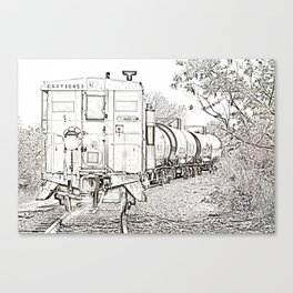 On Down The Line Canvas Print