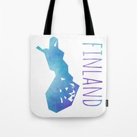 finland Tote Bags featuring Finland by Stephanie Wittenburg