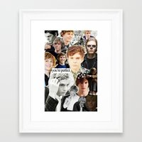 evan peters Framed Art Prints featuring evan peters by CALM OCEANS™