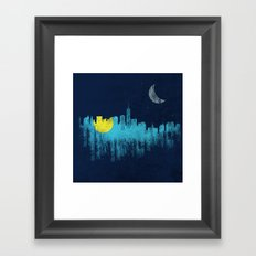 city that never sleeps Framed Art Print