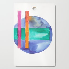 180818 Geometrical Watercolour 7| Colorful Abstract | Modern Watercolor Art Cutting Board