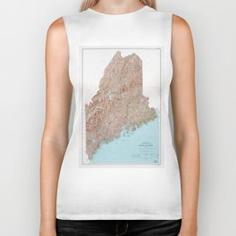 State of Maine Map (1977) Biker Tank