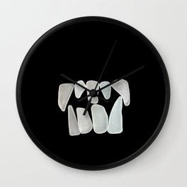 Fangs in the Dark Wall Clock