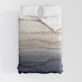 WITHIN THE TIDES WINTER BLUES by Monika Strigel Comforters