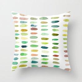 Verdant Brush Lines Throw Pillow