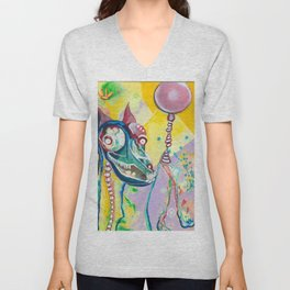 Walking My Dream Horse Unisex V-Neck