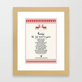 Rudolph the red-nosed reindeer Framed Art Print