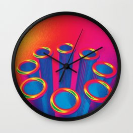 Colorful Pop Art Cylinders Wall Clock