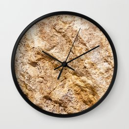 Limestone Textures 9 Wall Clock