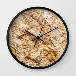 Limestone Textures 9 Wall Clock