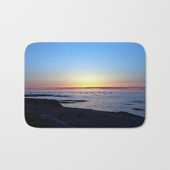 Sun Sets up the River, Across the Sea Bath Mat