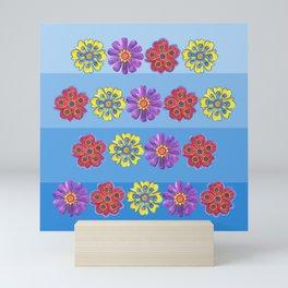 Stacks of Flowers Mini Art Print