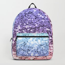 Pastel Mermaid Glitters Sparkling Pretty Chic Bling Background Backpack