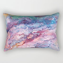 Rainbow Dream Groovy Flow #22 Rectangular Pillow