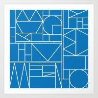 Kaku Blue 2 Art Print